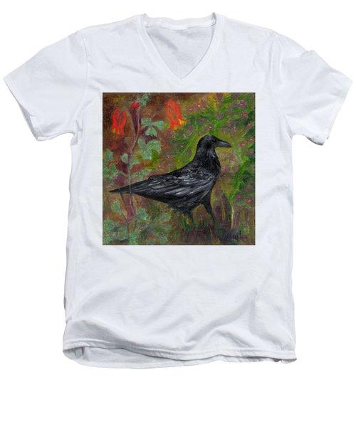 Raven In Columbine Men's V-Neck T-Shirt