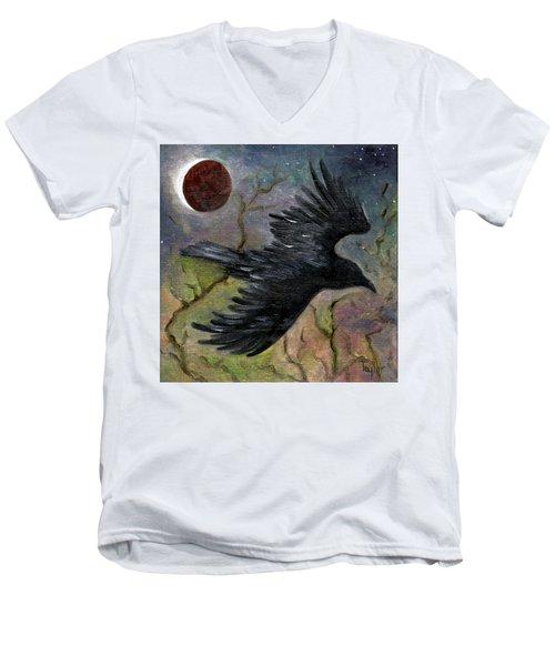 Raven In Twilight Men's V-Neck T-Shirt