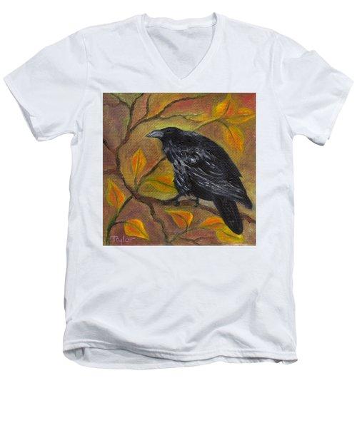 Raven On A Limb Men's V-Neck T-Shirt