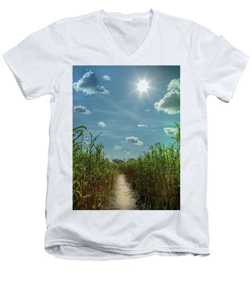 Rays Of Hope Men's V-Neck T-Shirt by Karen Wiles