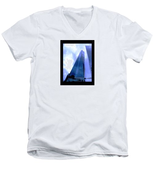 Men's V-Neck T-Shirt featuring the photograph Reach For The Sky. by Steve Godleski