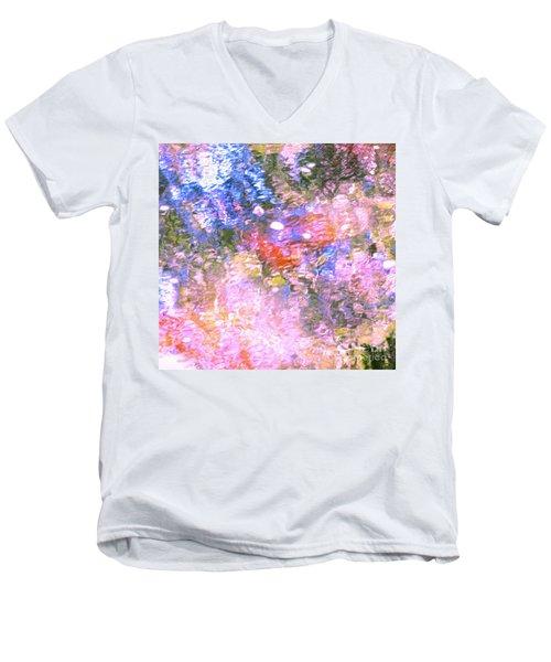 Reaching Angels   Men's V-Neck T-Shirt