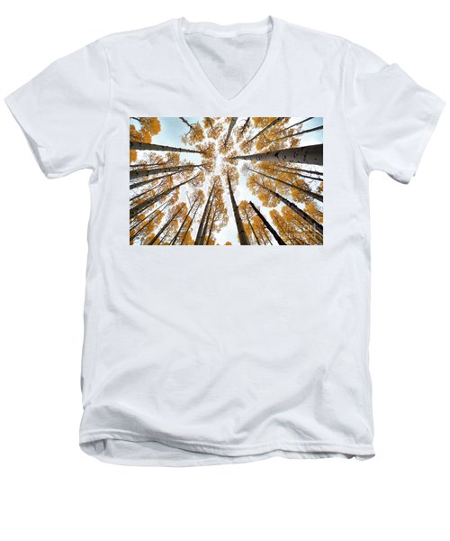 Reaching The Sky Men's V-Neck T-Shirt