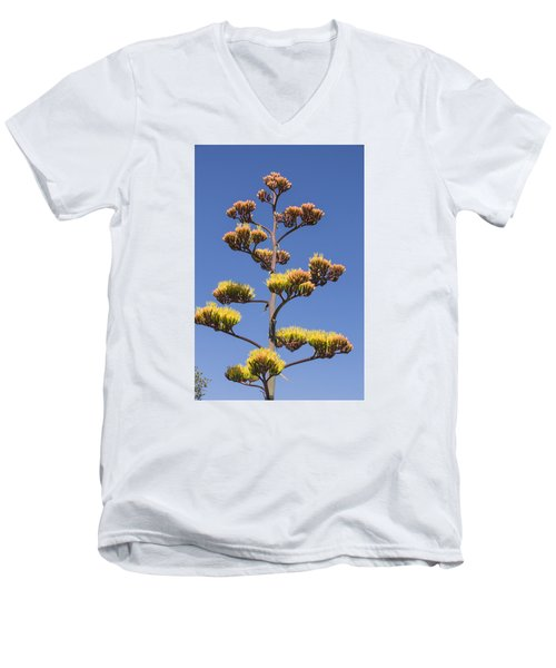 Men's V-Neck T-Shirt featuring the photograph Reaching To The Sky by Laura Pratt