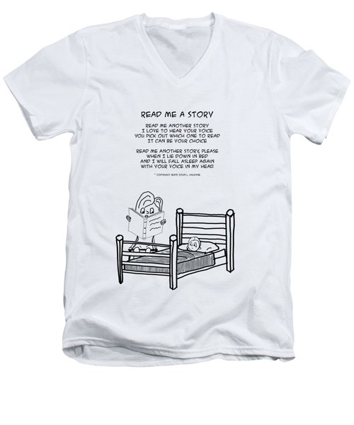 Read Me A Story Men's V-Neck T-Shirt