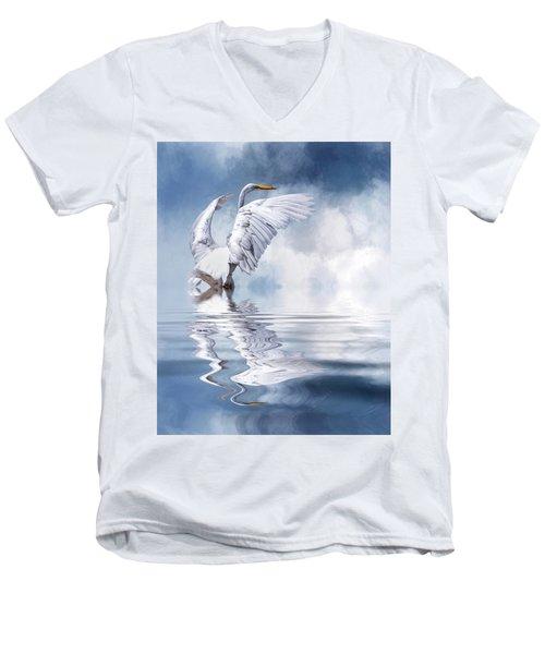 Ready For Take Off Men's V-Neck T-Shirt by Cyndy Doty