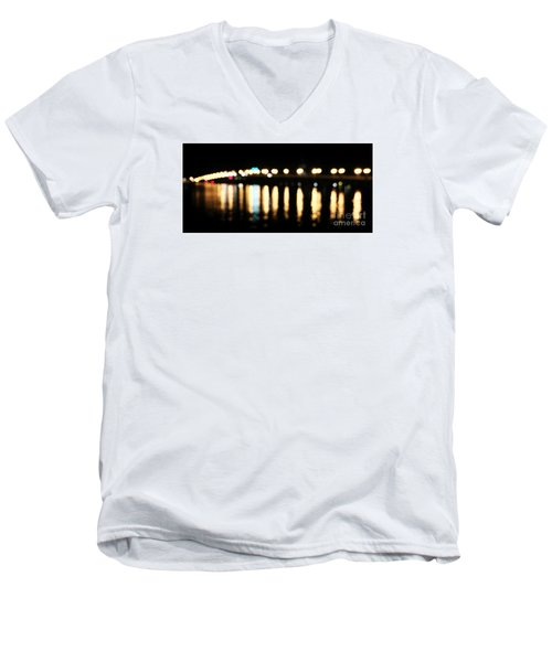 Bridge Of Lions -  Old City Lights Men's V-Neck T-Shirt