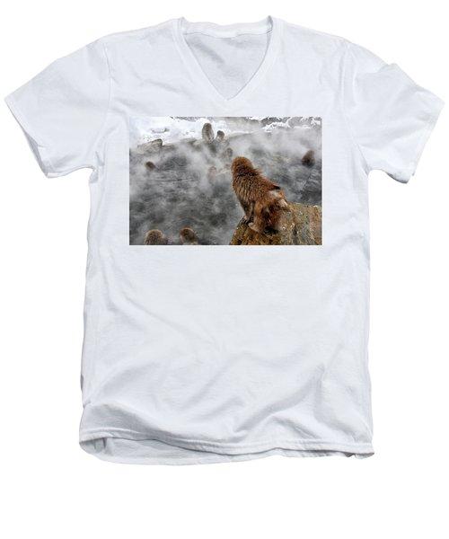 Ready For The Plunge Men's V-Neck T-Shirt