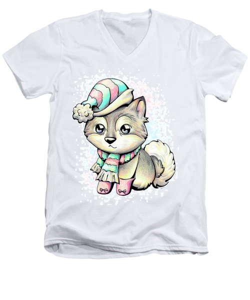 Ready For Winter Alaskan Malamute Men's V-Neck T-Shirt
