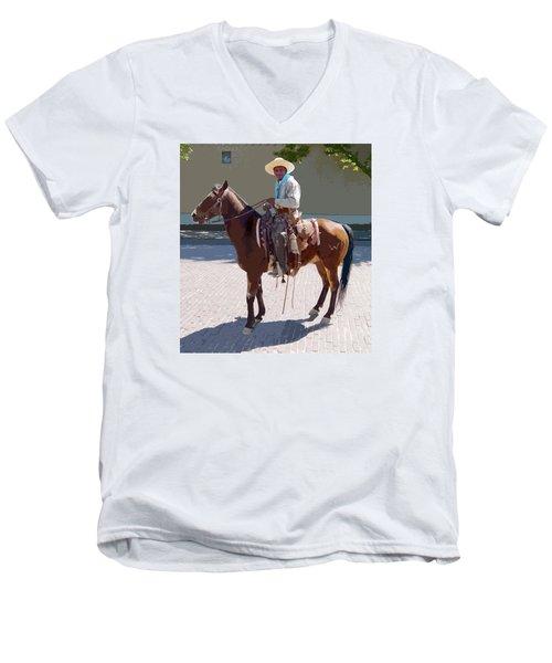 Real Cowboy Men's V-Neck T-Shirt
