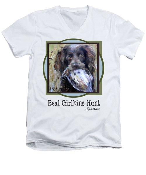 Real Girlkins Hunt Men's V-Neck T-Shirt