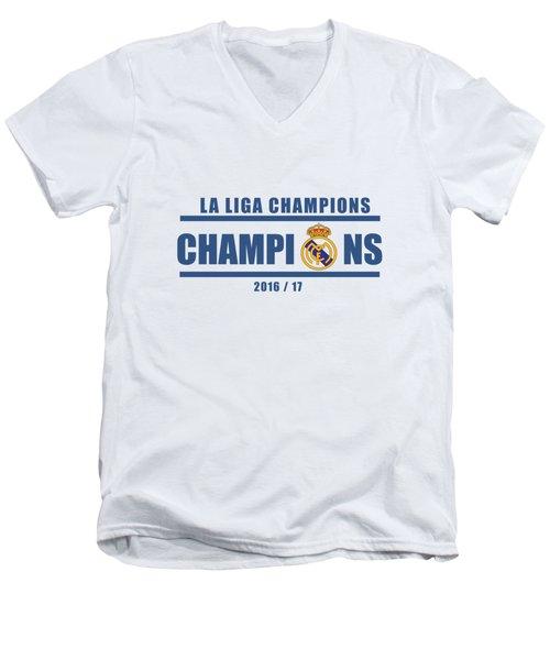 Real Madrid La Liga Champions  Men's V-Neck T-Shirt