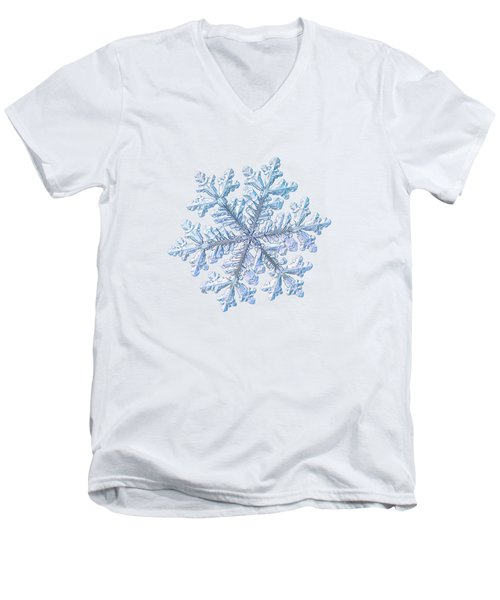 Real Snowflake - Hyperion White Men's V-Neck T-Shirt