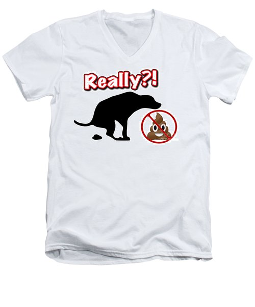 Really No Poop Men's V-Neck T-Shirt