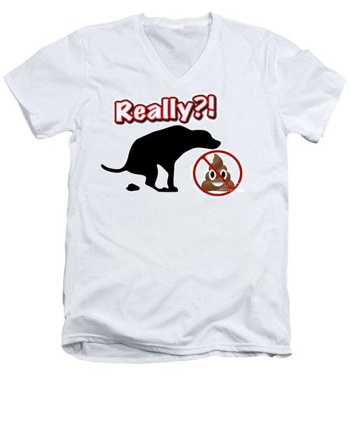 Really No Poop Men's V-Neck T-Shirt