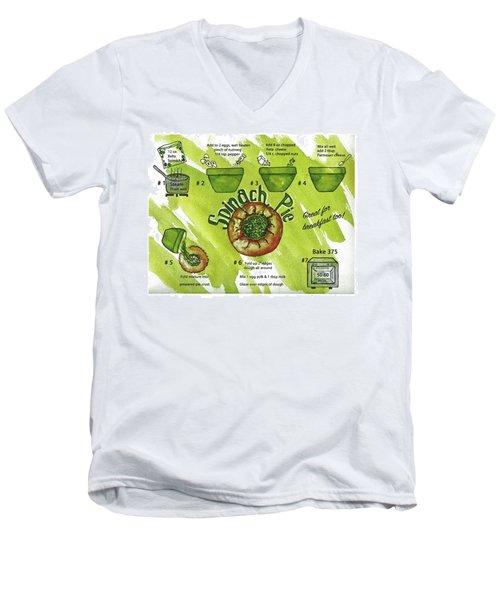 Recipe-spinach Pie Men's V-Neck T-Shirt