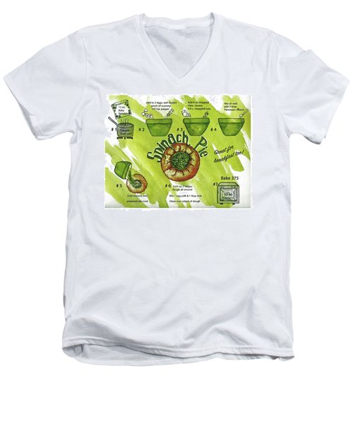 Recipe-spinach Pie Men's V-Neck T-Shirt