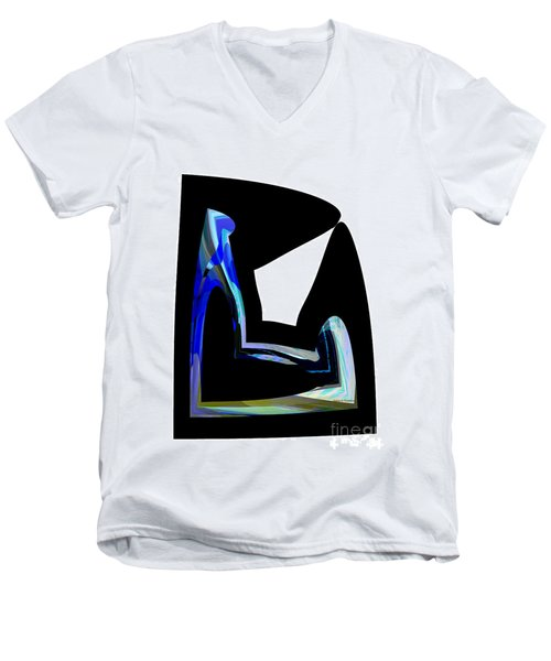 Recline Men's V-Neck T-Shirt by Thibault Toussaint