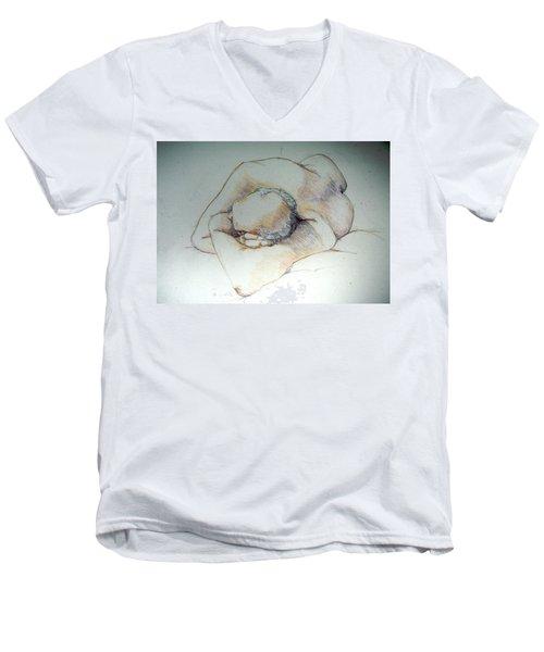 Reclining Study 3 Men's V-Neck T-Shirt