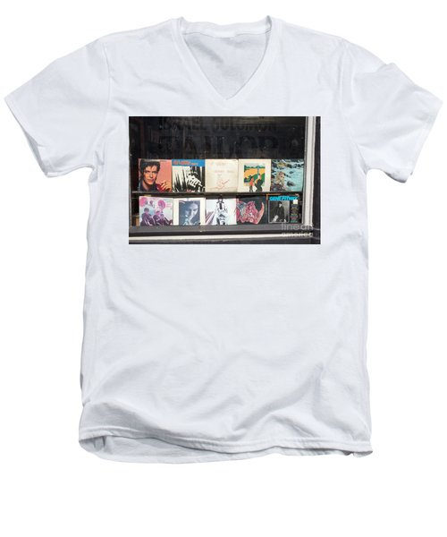 Record Store Burlington Vermont Men's V-Neck T-Shirt