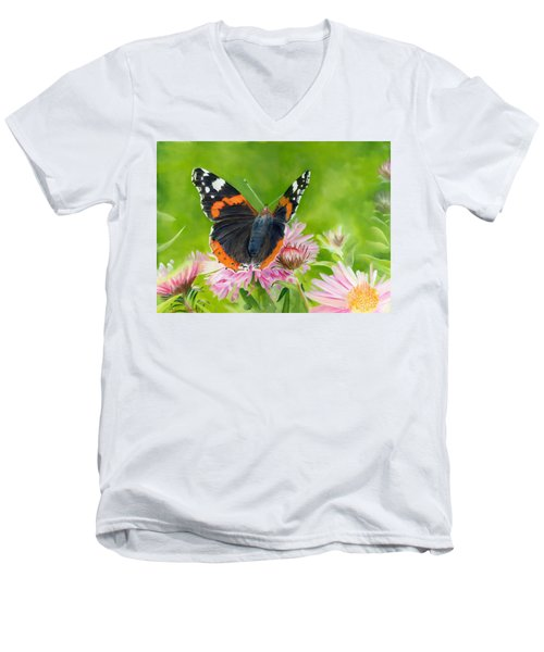 Red Admiral Men's V-Neck T-Shirt