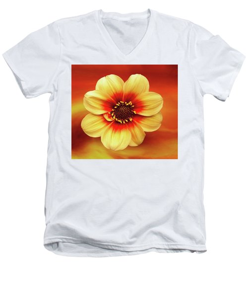 Red And Yellow Inspiration Men's V-Neck T-Shirt