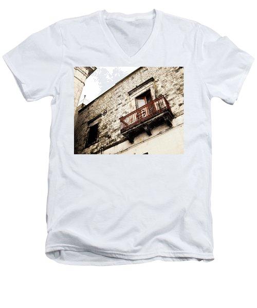 Red Balcony Men's V-Neck T-Shirt