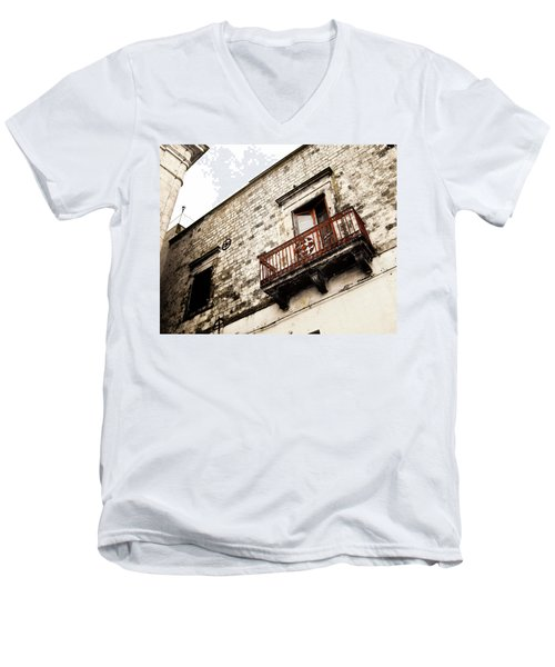 Red Balcony Men's V-Neck T-Shirt