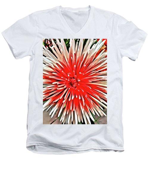 Red Burst Men's V-Neck T-Shirt