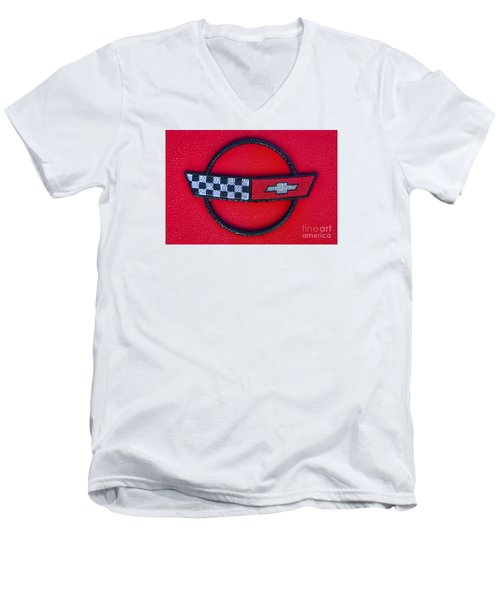 Red C4 Men's V-Neck T-Shirt