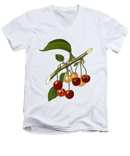 Red Cherries Men's V-Neck T-Shirt