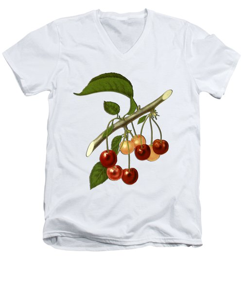 Red Cherries Men's V-Neck T-Shirt