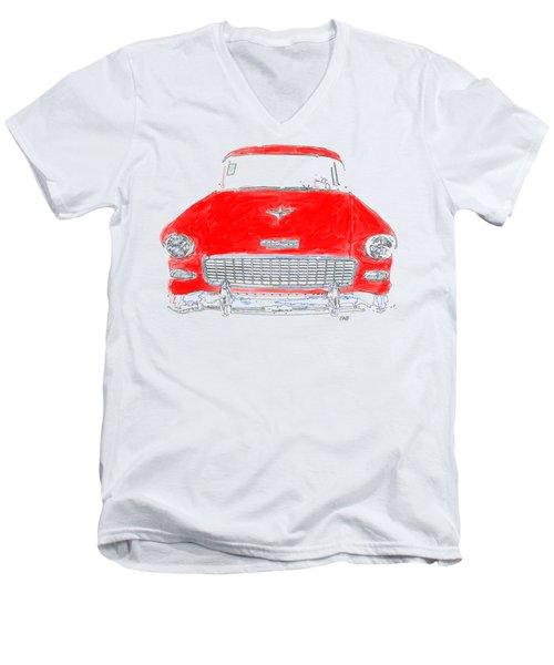 Red Chevy T-shirt Men's V-Neck T-Shirt