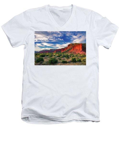 Red Cliffs Of Caprock Canyon 2 Men's V-Neck T-Shirt