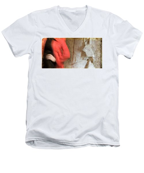 Red Coat #4820 Men's V-Neck T-Shirt