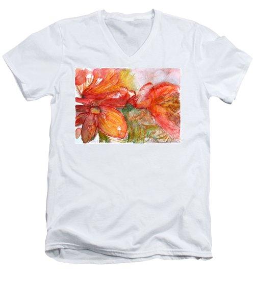 Red Dance Men's V-Neck T-Shirt