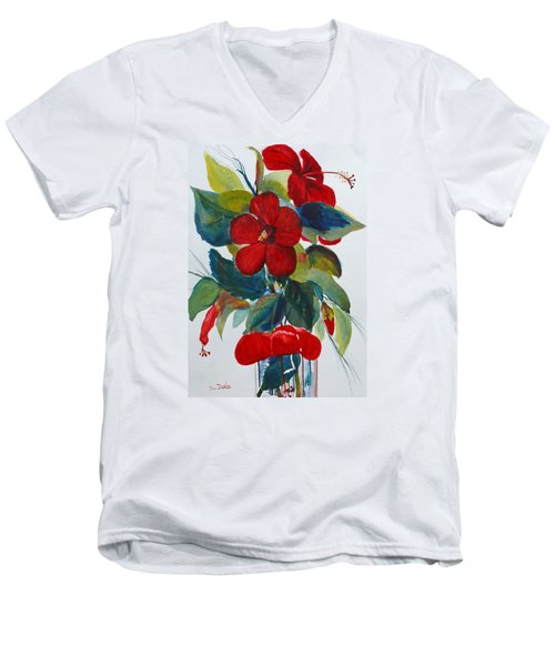 Red Dance Men's V-Neck T-Shirt