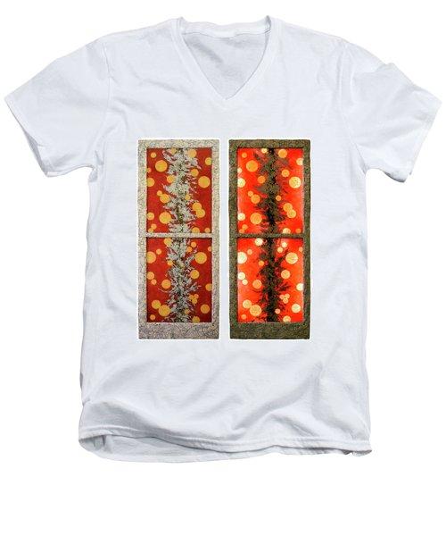 Red Light, White Line Men's V-Neck T-Shirt