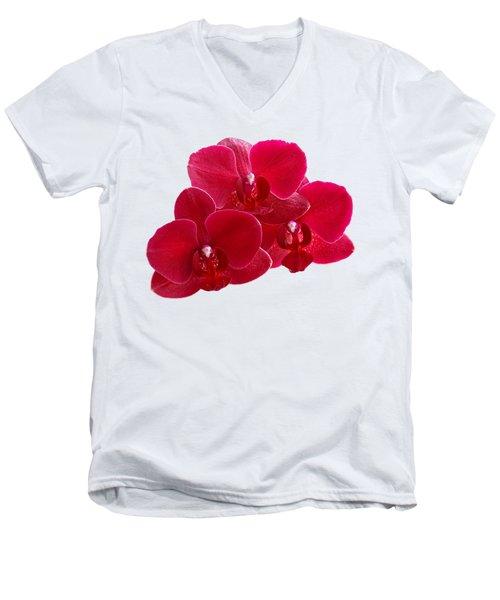 Red Orchid Trio Men's V-Neck T-Shirt