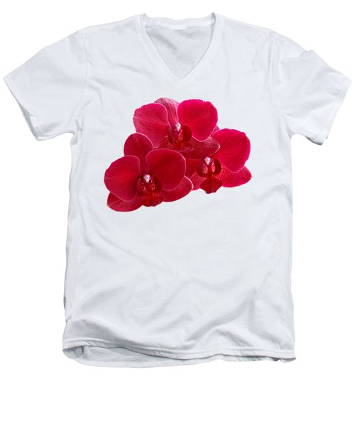 Red Orchid Trio Men's V-Neck T-Shirt