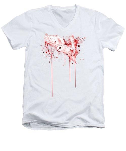 Red Owl Men's V-Neck T-Shirt