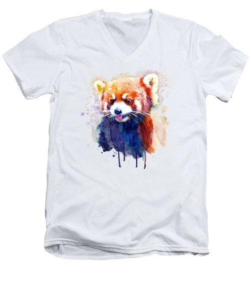 Red Panda Portrait Men's V-Neck T-Shirt