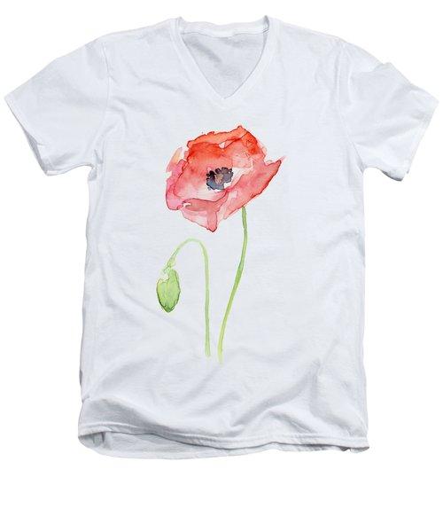 Red Poppy Men's V-Neck T-Shirt
