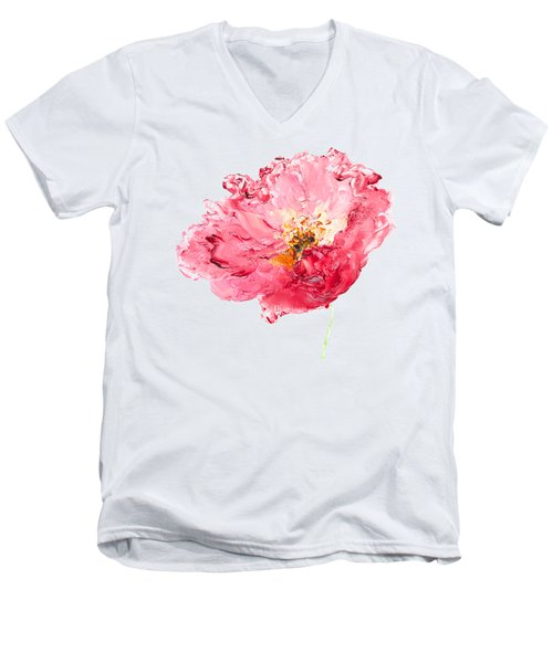 Red Poppy Painting Men's V-Neck T-Shirt