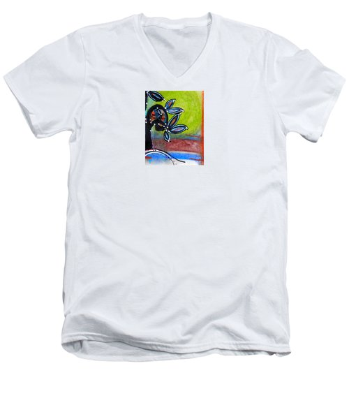 Red River Blossoms Men's V-Neck T-Shirt