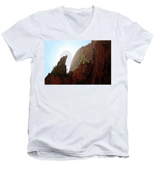Red Rock At Zion Men's V-Neck T-Shirt