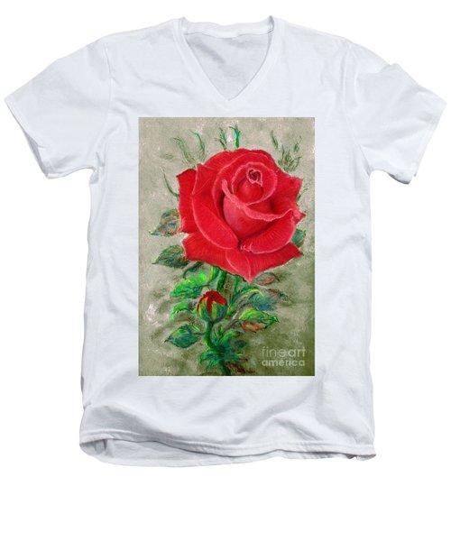 Red Rose Men's V-Neck T-Shirt