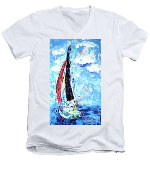 Red Sail Men's V-Neck T-Shirt