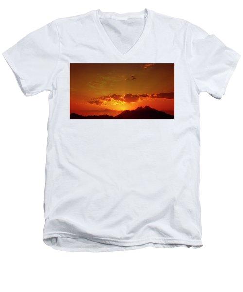 Red Sunset In Africa 2 Men's V-Neck T-Shirt