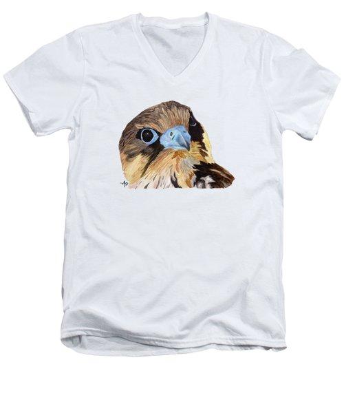 Red-tailed Hawk Portrait Men's V-Neck T-Shirt